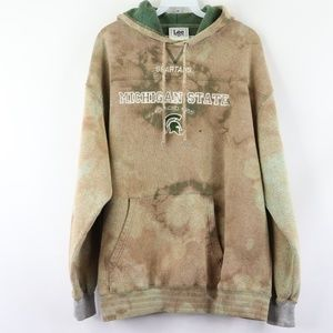 90s Michigan State University Acid Wash Hoodie XL